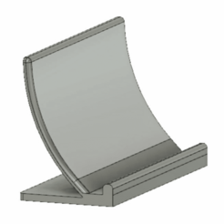 phone_stand.png Download free STL file Crazy curved phone stand • 3D printing model, Monomethylhydrazine