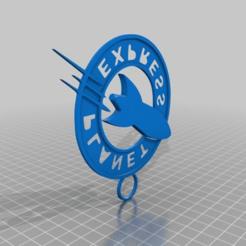 61b1c3b3a1990af9d87a7f0fbca53d07.png Download free STL file Planet Express Logo Keychain • 3D printing design, Monomethylhydrazine