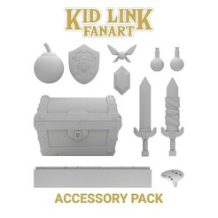 ACCESSORY PACK.jpg Download STL file KID LINK - ACCESSORY PACK - FANART - ZELDA • 3D printing template, uly_paintminis
