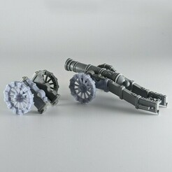 720X720-cannon.jpg Download free STL file Missing Cannon Carriage Bits • 3D printer template, IIGargoylesStudio
