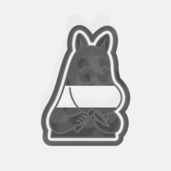 cutter hippo.png Download STL file Cookie cutter moomin pack • 3D printer template, andresleon_s
