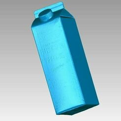 Milk Box View1.JPG Download OBJ file Real Milk Box 1 Liter Carton 3D Scan • 3D print template, 3D-Scan-Art