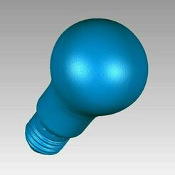 Bulb Lamp view3.JPG Download OBJ file Real Classic E27 Light Bulb Lamp 3D Scan • 3D printing design, 3D-Scan-Art