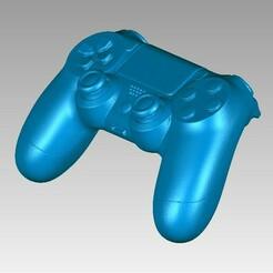 Joystick PS4 view1.JPG Download STL file Real Joystick Sony Playstation Dualshock 3D scan • 3D print object, 3D-Scan-Art