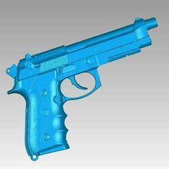 Beretta M9 view1.JPG Download OBJ file Real Beretta M9 Replica 3D Scan • 3D print design, 3D-Scan-Art