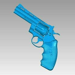 Colt Phyton 357 view1.JPG Download OBJ file Real Colt Phyton 357 Replica 3D Scan • 3D print object, 3D-Scan-Art