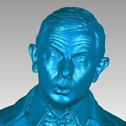 Mr Bean head bust view1.JPG Télécharger fichier OBJ Scan 3D de Mr Bean Bust • Plan pour impression 3D, 3D-Scan-Art