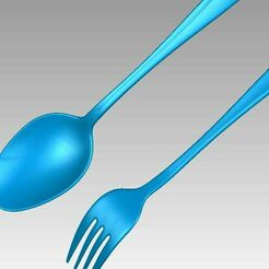 Spoon and Fork search.JPG Download OBJ file Real Stainless Steel Spoon and Fork 3D Scan • 3D print object, 3D-Scan-Art
