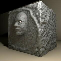 cubo11.jpg Download STL file Head in a bucket • 3D printer object, LucasSantillan