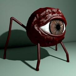 ojofrente0000.jpg Download STL file Eye with legs • 3D printer design, LucasSantillan
