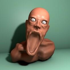 cabezafrente.jpg Download free STL file Angry man's head • Design to 3D print, LucasSantillan