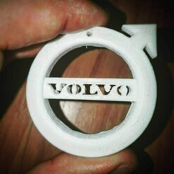 photo5792064648118383862.jpg Download STL file Volvo logo keyring • 3D printing template, Vexxid