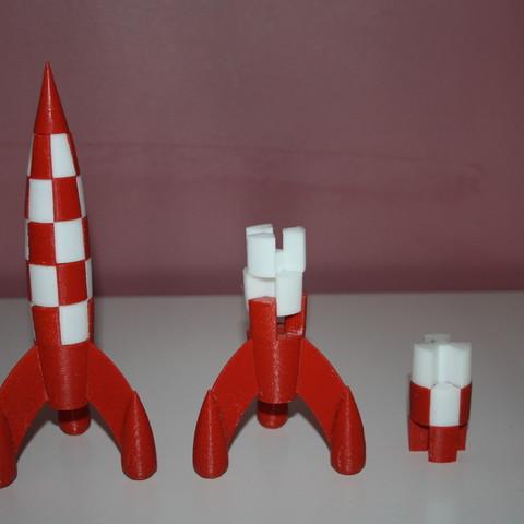 Fusee_Tintin_003.JPG Download free STL file Tintin Rocket • 3D printable object, JJB
