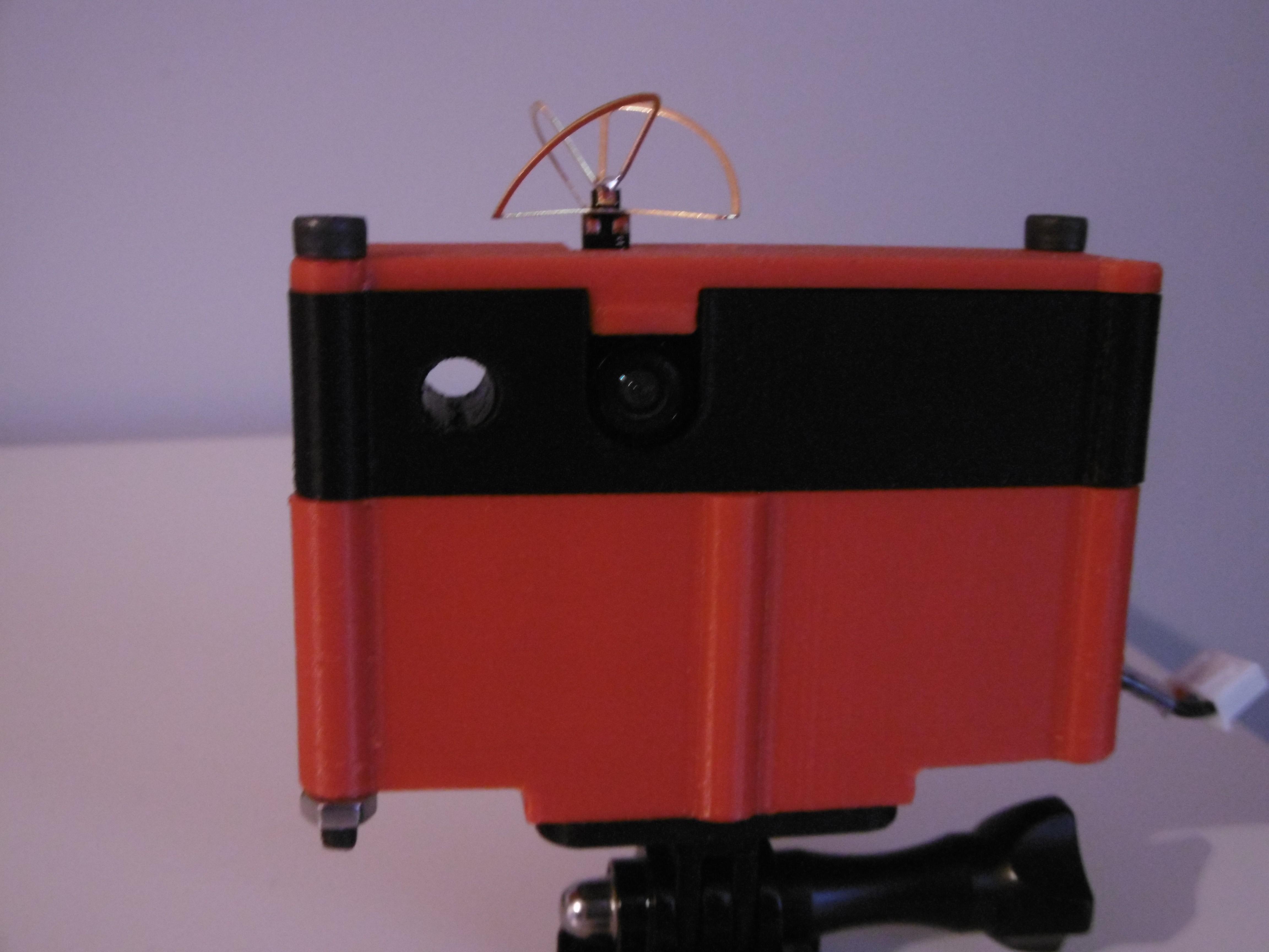 P1000951.JPG Download free STL file 5.8GHz Transmitter Holder with Miniature Camera • 3D printable object, JJB
