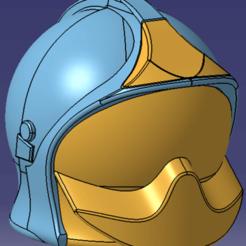Casque 2.png Download STL file Helmet Firefighter visor and shield to mount • 3D printing design, JJB
