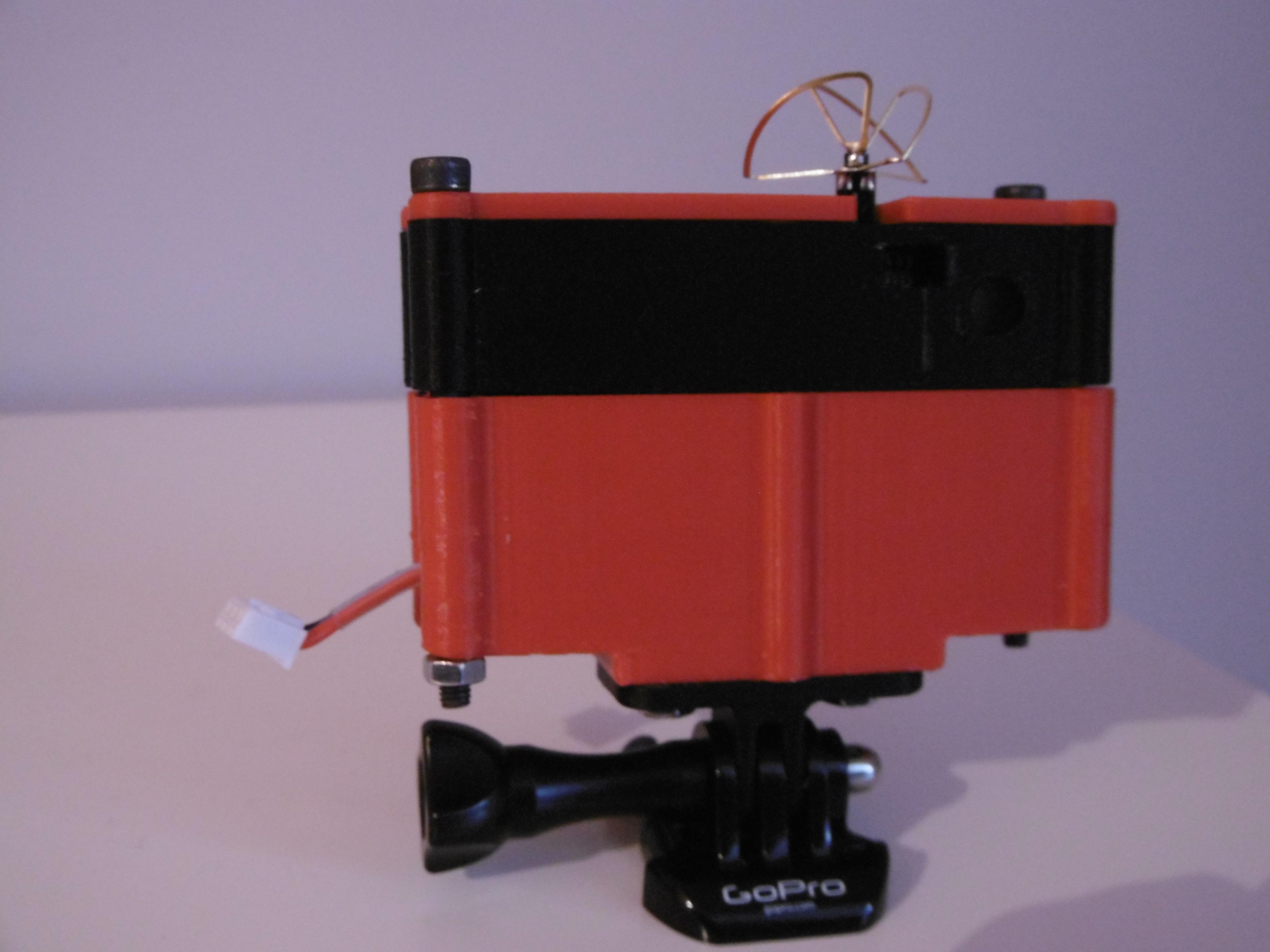 P1000953.JPG Download free STL file 5.8GHz Transmitter Holder with Miniature Camera • 3D printable object, JJB