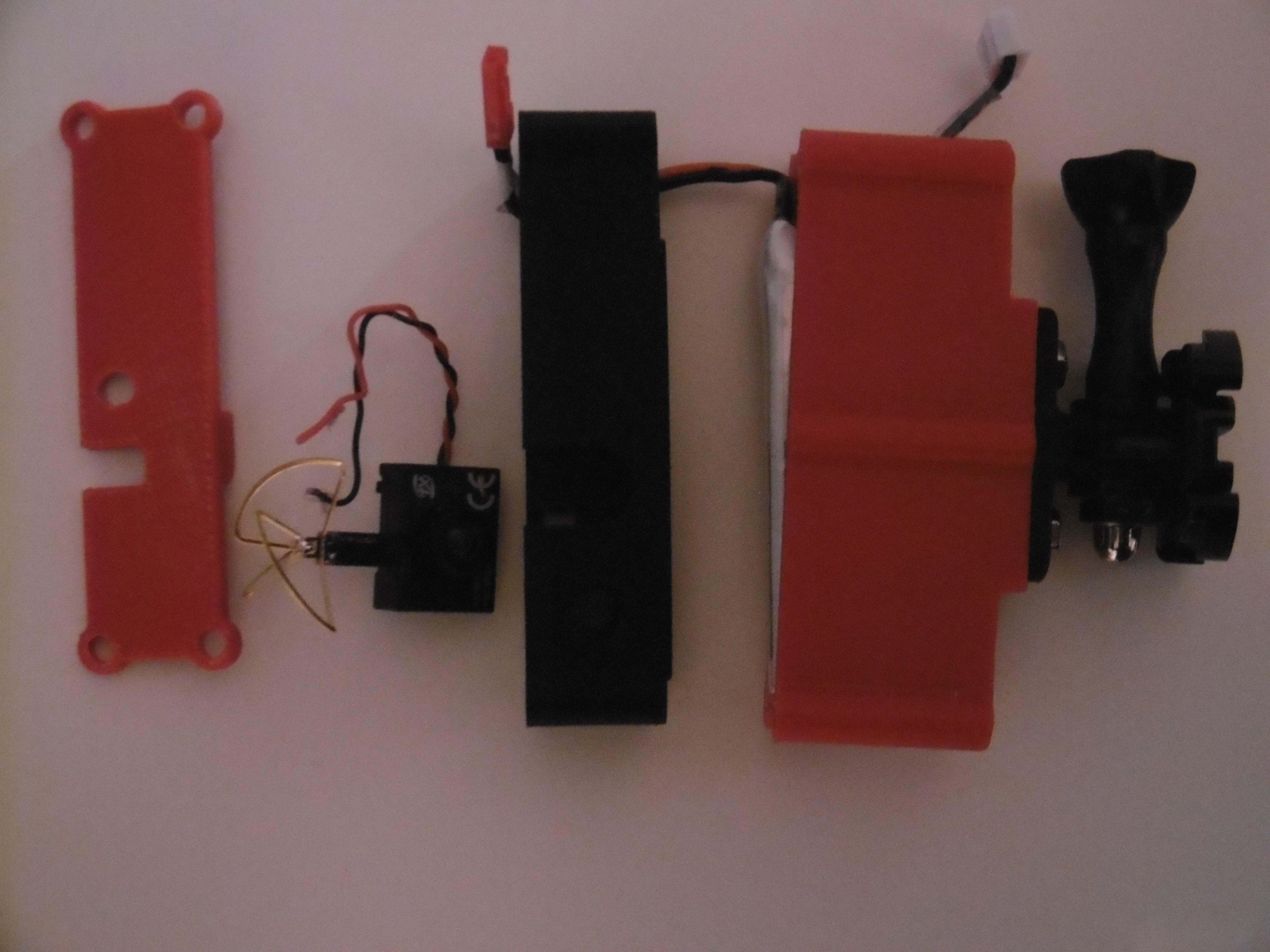 P1000958.JPG Download free STL file 5.8GHz Transmitter Holder with Miniature Camera • 3D printable object, JJB