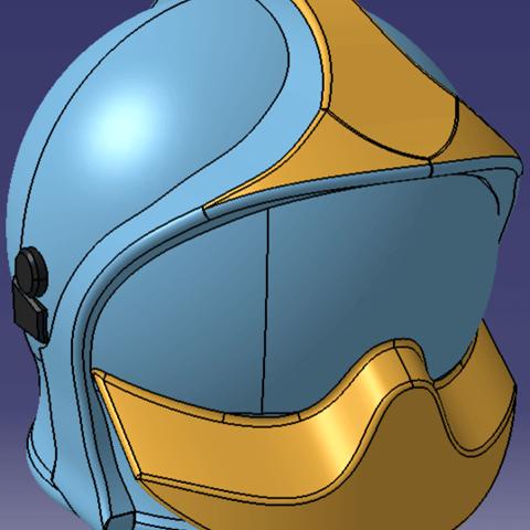 Casque1.png Download STL file Firefighter helmet SPF1 • 3D print model, JJB