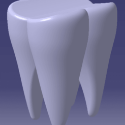 Molar tooth STL file, JJB