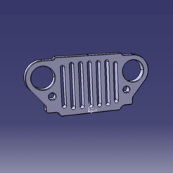 Download 3D printing templates jeep grill, JJB