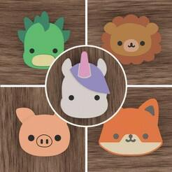 Boundle.jpg Download STL file Kawaii Animal Cookies Cutters Boundle • 3D printer object, CookieMaster