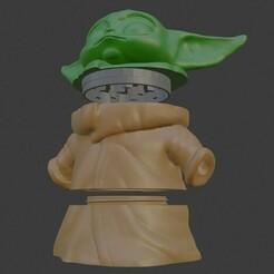 Grogrinder 1.jpg Download STL file Baby Yoda Grogu Grinder Star Wars • 3D printable template, BigHead