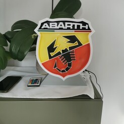 IMG_20210122_111133.jpg Download STL file Abarth led lamp • 3D printable template, vins4