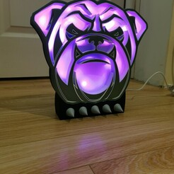 IMG_20201222_214221.jpg Download STL file English Bulldog Lamp • 3D print design, vins4