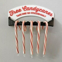 1.jpg Download STL file Holiday Candycane Holder Decoration • 3D print template, MBDesigns