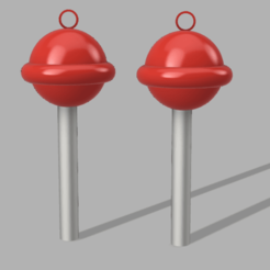 AroChupetin v2.png Download STL file Lollipop earrings • Template to 3D print, solgnt