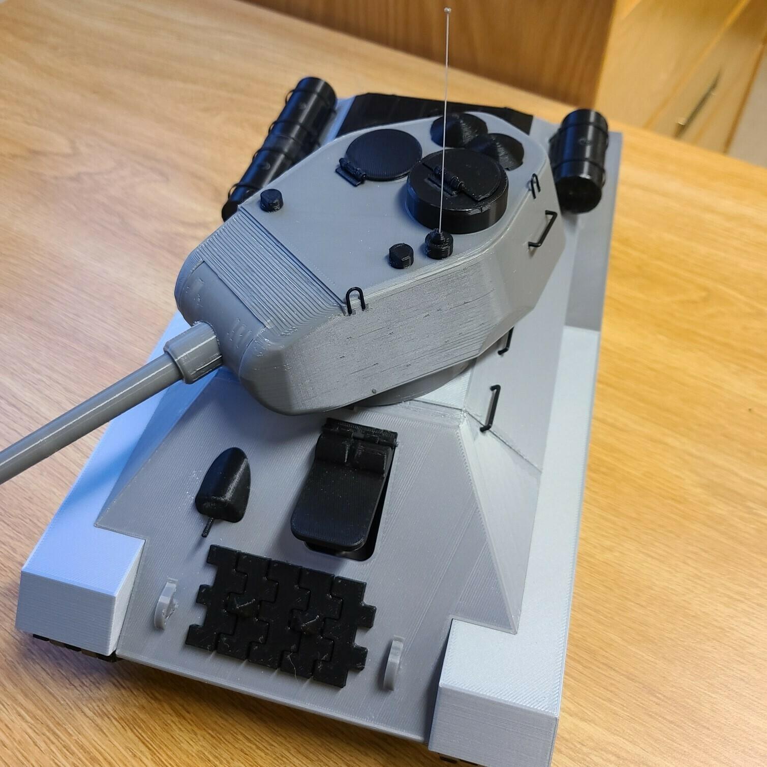 top.jpg Download STL file T-34/85 RC Model 1:16 scale • 3D printing template, mactek3d
