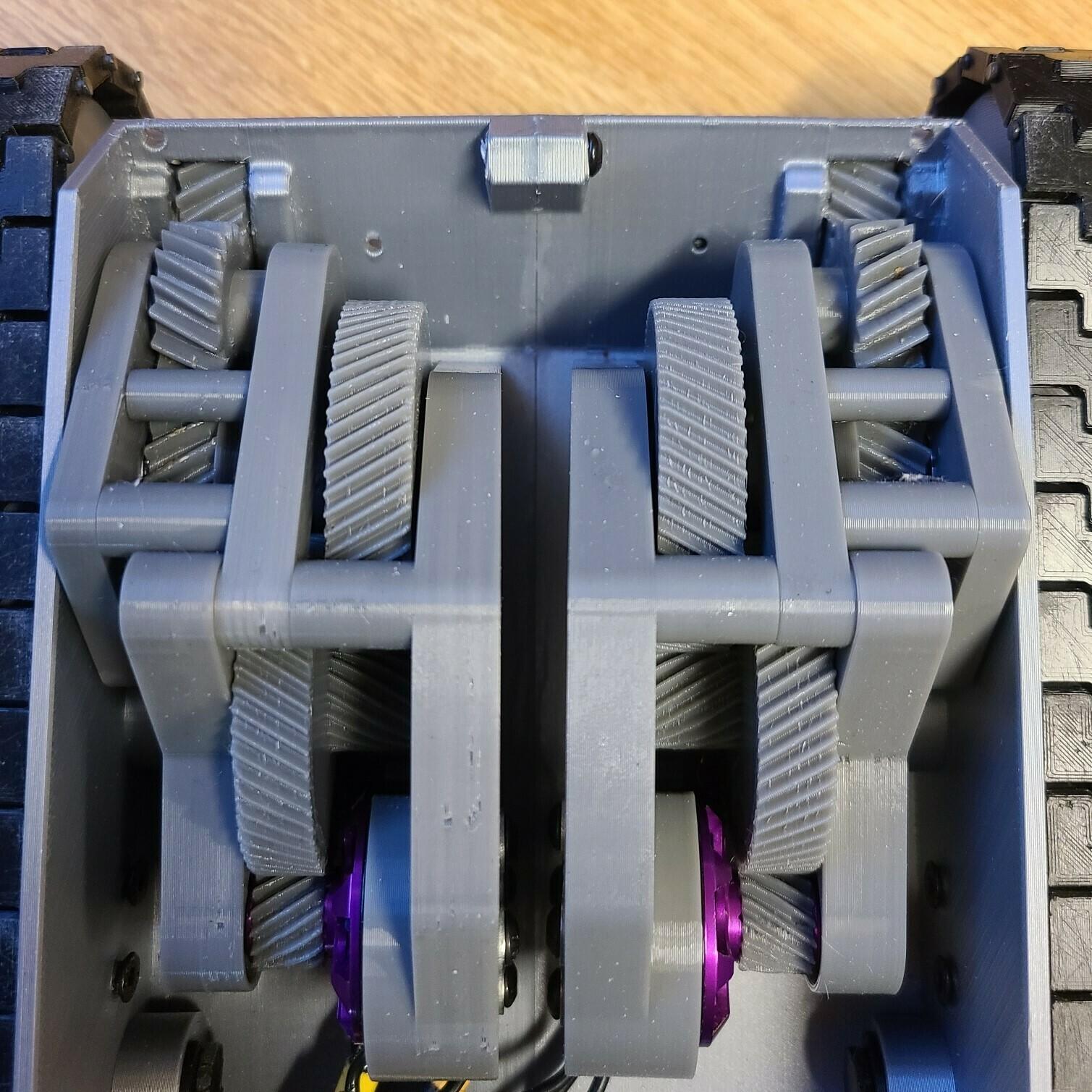 gear box.jpg Download STL file T-34/85 RC Model 1:16 scale • 3D printing template, mactek3d