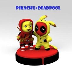 1.jpg Download STL file Pikachu and Deadpool • 3D printable design, nelytva
