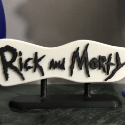 IMG_4122.png Download OBJ file Rick and Morty - Logo • 3D printable template, Imperial3D_Design