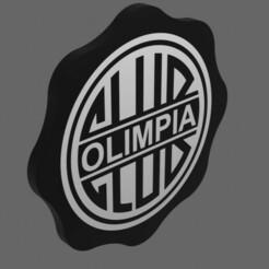 Olimpia.jpg Download STL file Escudo Club Olimpia • 3D print model, fheder