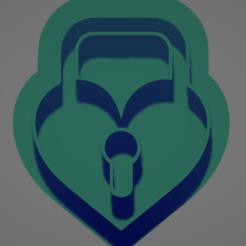 021 dos.PNG Télécharger fichier STL Coupe-biscuits en forme de cœur à clé • Design pour impression 3D, Rhemj