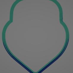 021 cinco.PNG Télécharger fichier STL Coupe-biscuits en forme de cœur à clé • Design pour impression 3D, Rhemj