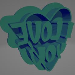 valentin07 uno.PNG Télécharger fichier STL I LOVE YOU HEART COOKIE CUTTER • Modèle pour imprimante 3D, Rhemj