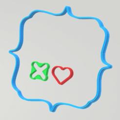 imagen_2021-01-22_014616.png Télécharger fichier STL Coupe-biscuits Tic Tac Toe Valentine • Design pour imprimante 3D, Rhemj