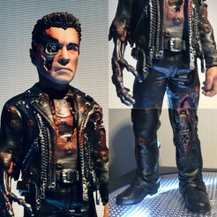 a01.jpg Télécharger fichier STL Terminator T800 Ver.damage • Plan à imprimer en 3D, kleaflab