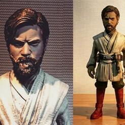 QUIGUN44.jpg Télécharger fichier STL Obi Wan Kenobi • Plan pour impression 3D, kleaflab