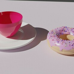 21.jpg Download STL file Cup with donut models • Template to 3D print, Victor846