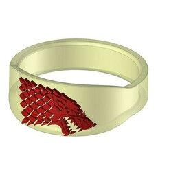 Anell juego tronos.jpg Download STL file Winter is coming throne ring set • 3D print template, AxelColomer