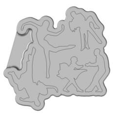 Molde baile 4 figuras.jpg Télécharger fichier STL Moule de danse 5 figures • Modèle pour impression 3D, AxelColomer