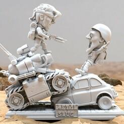 1.jpg Download STL file Metal Slug Diorama STL for 3D printing • 3D printing design, DioHamster