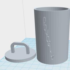 POUBELLE 3D.png Download STL file desk trash can • Object to 3D print, bruckmannjason