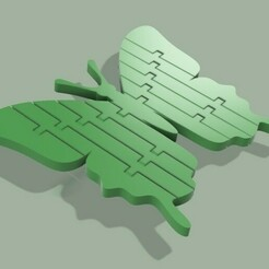 90fc637ec7052a93318ade464d47a7db_preview_featured.jpg Download free STL file Articulated flexible butterfly • 3D printable object, Jn3desing