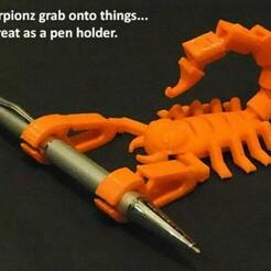 pen.jpg Download free STL file flex scorpion • 3D print model, Jn3desing