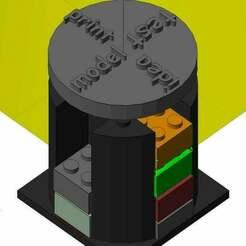 design-tower-2-example.jpg Download free STL file Progress visualization of printable 3D things with lego-likes • 3D printing object, danielkschneider