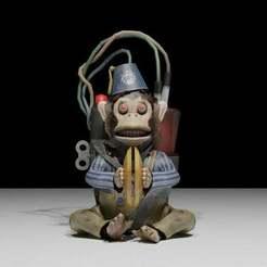 Monkey.jpg Télécharger fichier OBJ gratuit Monkey Bomb Call of Duty Black Ops 2 Zombie • Modèle pour imprimante 3D, LosSimonos